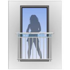 HK Zábradlí na okno H2S-2 HLINIK silver
