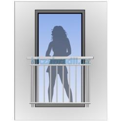 HK Zábradlí na okno H2B-2 HLINIK bronz