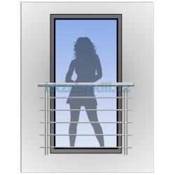 HK Zábradlí na okno H3B-2 HLINIK bronz