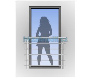HK Zábradlí na okno H3S-2 HLINIK silver