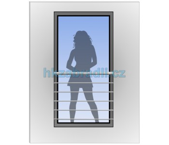 HK Zábradlí na okno H7S-2 HLINIK silver
