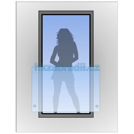 HK Zábradlí na okno H8 HLINIK silver