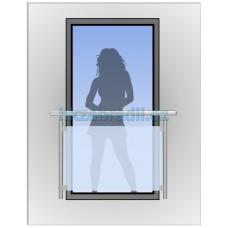 HK Zábradlí na okno H9S-2 HLINIK silver