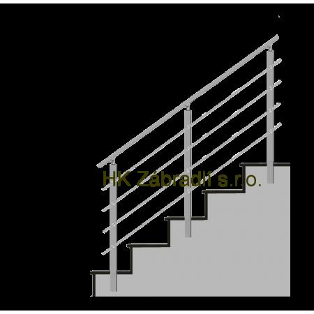 Hranaté zábradlí na terasu a balkón model HK4BS