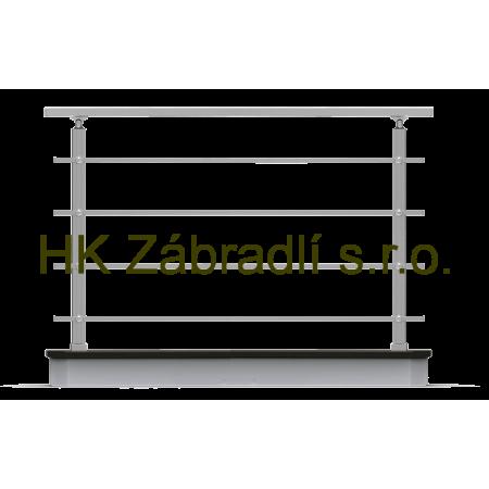 Hranaté zábradlí na terasu a balkón model HK4HR