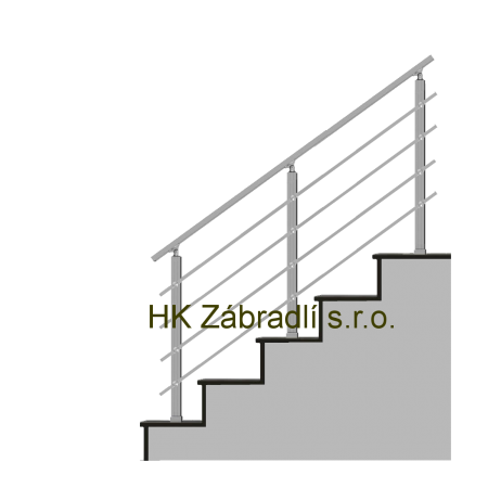 Hranaté zábradlí na terasu a balkón model HK4HS