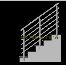 Hranaté zábradlí na schody model HK5BS