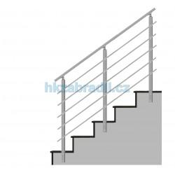 HK Zábradlí na schody HK5BS 1000x1000 HLINIK bronz