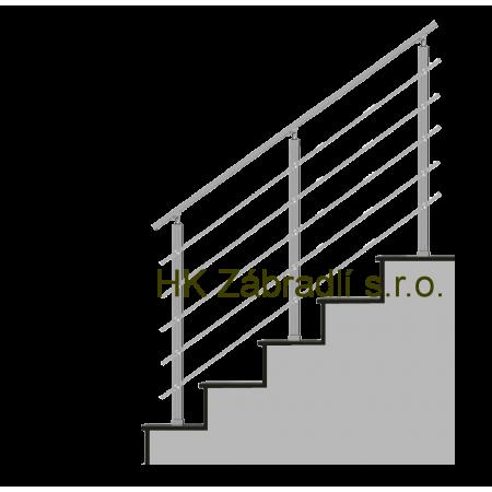 Hranaté zábradlí na schody model HK5HS