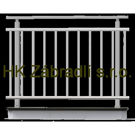 Hranaté zábradlí na terasu a balkón model HKA1HR