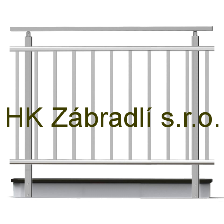 Hranaté zábradlí na terasu a balkón model HKA2BR