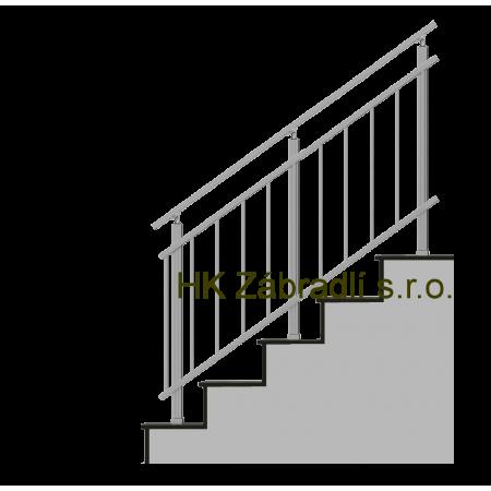 Hranaté zábradlí na terasu a balkón model HKA3HS