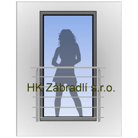 Hranaté Zábradlí Na Francouzské Okno HKFR3