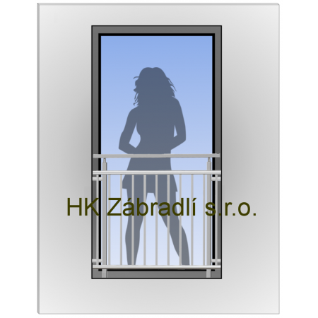 Hranaté Zábradlí Na Francouzské Okno HKFR7