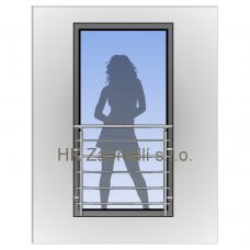 Hranaté zábradlí na francouzské okno HKFR8