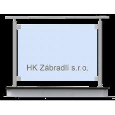Hranaté skleněné zábradlí na terasu a balkón model S1HR
