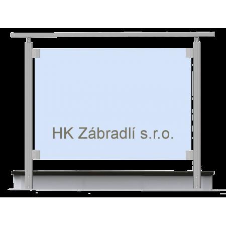 Hranaté skleněné zábradlí na terasu a balkón model S2BR