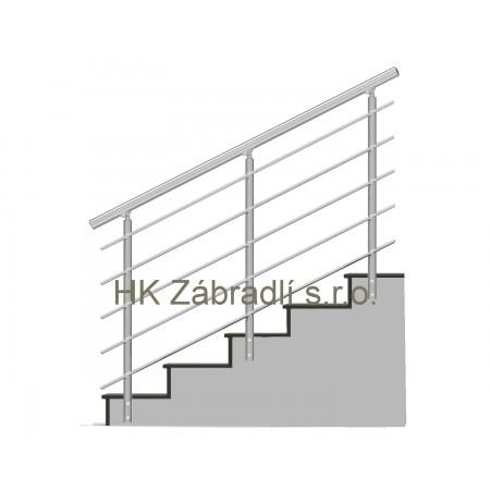 Zábradlí na schody model B3 boční