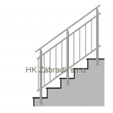 Zábradlí na schody model A3 boční
