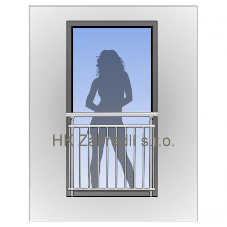 Zábradlí na francouzská okna H5
