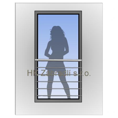 Zábradlí na francouzská okna model H7S