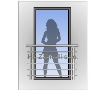 Zábradlí na francouzská okna H3S