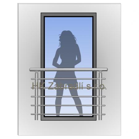 Zábradlí na francouzská okna BRONZ imitace nerez model H3B