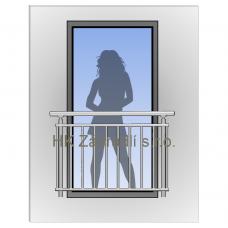 Zábradlí na francouzská okna H2S barva SILVER