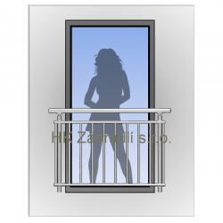 Zábradlí na francouzská okna H2S
