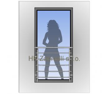 Zábradlí na francouzská okna H4