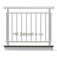 Zábradlí na terasu, balkóny a lodžie model A1 horní, barva silver
