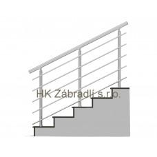 Zábradlí na schody model B3 horní, barva SILVER