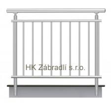 Zábradlí na terasu, balkóny a lodžie model A2 boční, barva silver
