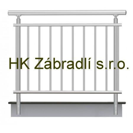 Kulaté zábradlí na terasu a balkon BRONZ imitace nerez model A2BRB