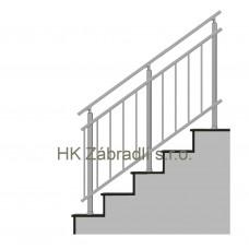 Zábradlí na schody model A3 horní,