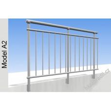 Zábradlí na terasu, balkóny a lodžie model A2 boční