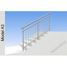 Zábradlí na schody model A3 horní