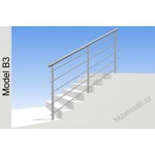 Zábradlí na schody model B3 horní