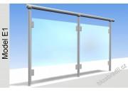 Zábradlí na terasu, balkóny a lodžie model E1 horní