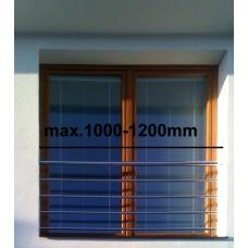 Zábradlí na francouzská okna model H7