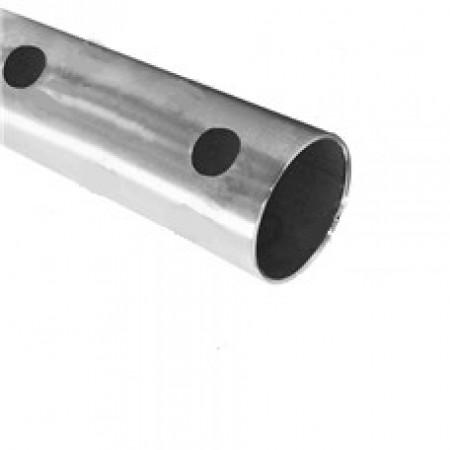 Nerezová trubka broušená,15x otvor d12mm 2000mm