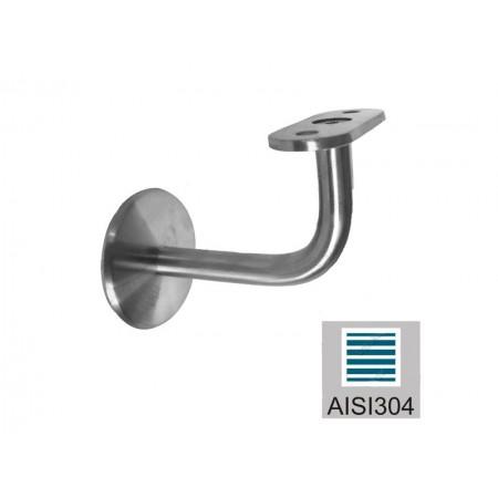 Úchyt madla AISI304, 40x40x2/d60/M8mm
