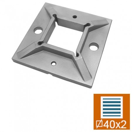 Kotvící příruba AISI304, D100x100/d40x40x2mm