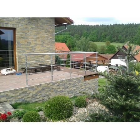 Zábradlí na terasu, balkóny a lodžie model B2 boční