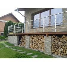 Zábradlí na terasu, balkóny a lodžie model B1 horní