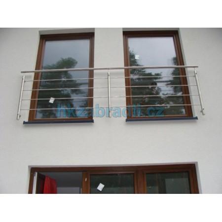 HK Zábradlí rovné KN1 1000x1000 AISI304 brus FR